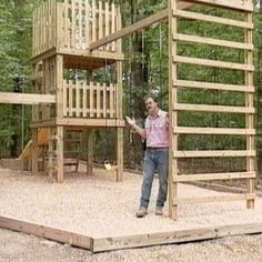 10 Free Swing Set Plans: DIY Network's Free Swing Set and Double-Decker Playhouse Plan