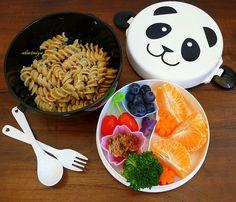 Pesto Pasta Panda Bento by sherimiya ♥