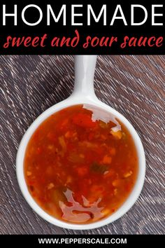 Spicy sweet and sour sauce packs in so much flavor in such little space. It's a perfect dipping sauce for egg rolls or for use as a topper for sweet and sour chicken. #spicysweetandsoursauce #sweetandsoursauce #sweetandsour #sweetandsoursaucehomemade Spicy Vegetarian Recipes, Vegetarian Appetizers, Veggie Recipes, Dip Recipes, Sauce For Eggs, Cilantro Garlic Sauce, Sweet Sauce, Hot Sauce, Spicy Aioli
