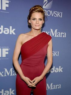 Stana Katic at the Women In Film's 2013 Crystal + Lucy Awards at The Beverly Hilton Hotel on June 12, 2013
