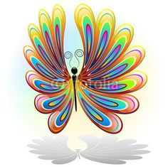 #Butterfly #Abstract #Colors C#Design - #Vector © bluedarkat #41701261 - http://us.fotolia.com/id/41701261/partner/200929677