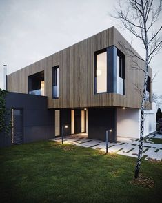 36 Ideas house luxury exterior architecture for 2019 House Cladding, Facade House, Modern Exterior, Exterior Design, Residential Architecture, Modern Architecture, Architecture Layout, Minimalist Architecture, Dream House Exterior