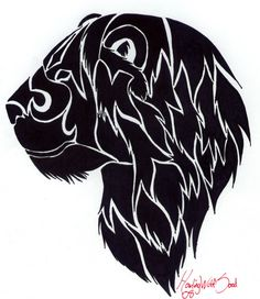 Tribal lion tattoo by HowlingWolfSoul on DeviantArt