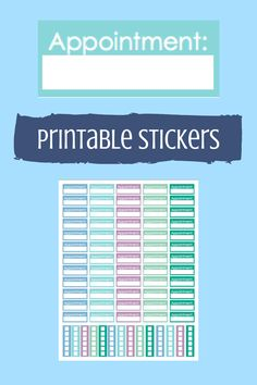printable appointment stickers for erin condren life planner, printable planner stickers