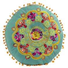 I pinned this Nashik Pillow in Teal from the Bohemian Rhapsody event at Joss and Main!