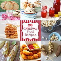 20 Carnival Food Recipes to Make at Home....oh my gosh...I just died and went to heaven...