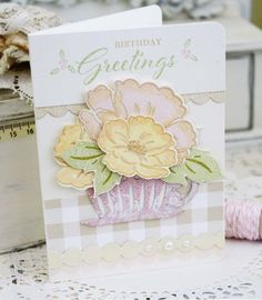 Birthday Greetings Card by Melissa Phillips for Papertrey Ink (July 2015)