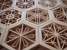 ホーム - J LIFE gifts 組子細工インテリア専門店 Cane Baskets, Home Entrance Decor, Japanese Woodworking, Lattice Design, Wood Joinery, Grill Design, Wood Detail, Islamic Art Calligraphy, Wood Patterns