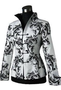 New Style White Black Women's Evening Jacket Coat Dress SZ: 6-8-10-12-14-16