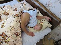 That's how my little one sleeps on me!