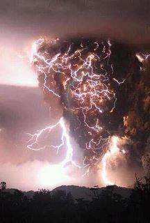 Lightning tornado of fiery doom.