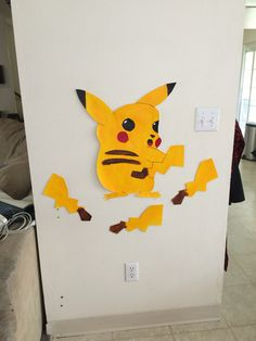 Pin the tail on the Pikachu, Pokemon party, Pokemon decorations