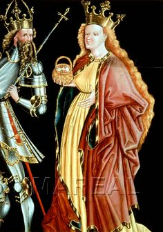 der Heilige Kaiser Heinrich II., Hl. Dorothea 1455-1465; Freising; Deutschland; Bayern; Diözesanmuseum http://tarvos.imareal.oeaw.ac.at/server/images/7006410.JPG