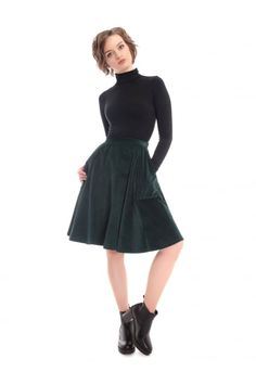Bright & Beautiful Tia Middy Skirt - Bright & Beautiful from Collectif UK