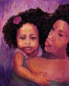 "African American Art ~ ""New Sweet Girl"""