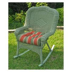 Have to have it. Chelsea Wicker Resin Patio Rocking Chair - White $269.98
