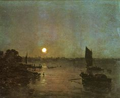 Joseph Mallord William Turner Moonlight A Study at Millbank painting, oil on canvas & frame; Joseph Mallord William Turner Moonlight A Study at Millbank is shipped worldwide, 60 days money back guarantee. Joseph Mallord William Turner, Watercolor Landscape Paintings, Landscape Art, Nocturne, Turner Painting, Tate Gallery, Colorful Artwork, Covent Garden, Moonlight