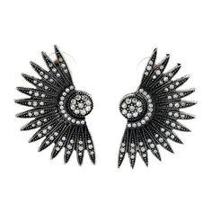 Half Moon Vintage Earrings (180 BRL) ❤ liked on Polyvore featuring jewelry, earrings, earrings jewelry, square stud earrings, stud earring set, stud earrings and vintage jewelry