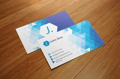 Triangle Polygon Business Card