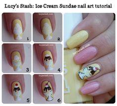 Sundae Ice Cream nails