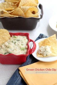 Green Chicken Chile Dip from @createdbydiane