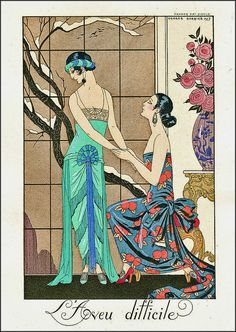 George Barbier was born in Nantes in 1882 and went on to study at the Ecole des Beaux-Arts under the tutelage of Jean Paul Laurens