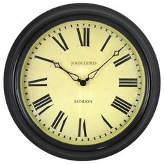 Buy Lascelles Personalised Case Clock, Dia.45cm, Black | John Lewis
