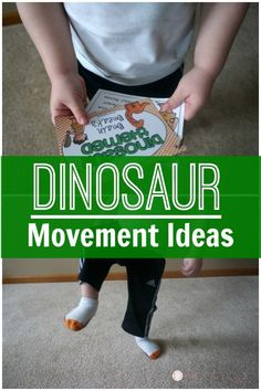Dinosaur Movement Ideas perfect for the classroom, therapy, or at home. Combine these movement ideas with a dinosaur unit! Perfect for preschool on up! Great for brain breaks! Dinosaur Theme Preschool, Dinosaur Games, Dinosaur Activities, Gross Motor Activities, Movement Activities, Preschool Themes, Preschool Lessons, Sensory Activities, Educational Activities