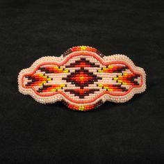 Beaded barrette Native American hand made