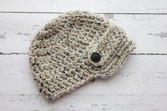 Crochet Newborn to child boy newsboy hat visor by Stephyscrochet, $18.00