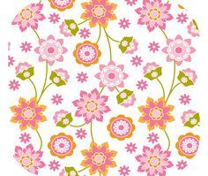 Pink and Orange Flowers Mouse Pad Summer Mango Mouse Pad So Bright and Happy Mouse Pad by GmaCustom4You on Etsy