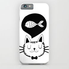 Cat and fish iPhone 6s Slim Case