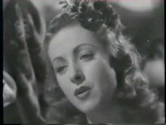 "Danielle Darrieux sings!-""Dans mon coeur"" in RETOUR A L'AUBE-1938"