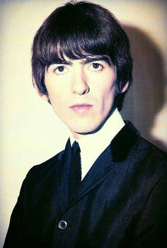 """thateventuality: """"Scan - George Harrison, in color, Photo: The Beatles Book / """"The Best of The Beatles Book"""" """"""""[He had] the most beautiful dark eyes."""" - Pat Jourdan on first seeing teenage George Harrison at the door of the Art School canteen. Music Do, Rock Music, Beverly Hills, Liverpool, Happy Birthday George, Beatles Books, Beatles Photos, Music Genius, The Quiet Ones"""