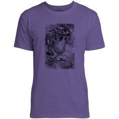 Mintage Weaver Birds Mens Fine Jersey T-Shirt (Purple)