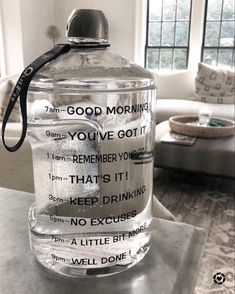 """Shop Your Screenshotsâ""""¢ with LIKEtoKNOW. 1 Gallon Water Bottle, Water Bottle With Times, Water Aesthetic, Think Food, Healthy Lifestyle Motivation, Workout Aesthetic, Dream Life, Fitness Inspiration, Vodka Bottle"""