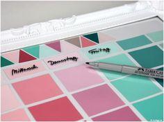 DIY Wandkalender aus Farbkarten