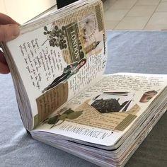 scrapbook travel idea From - art - Art Journal Pages, Album Journal, Journal Diary, Scrapbook Journal, Bullet Journal Ideas Pages, Bullet Journal Inspiration, Journal Notebook, Junk Journal, Art Journals