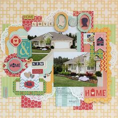Love all the fun details Juliana Michaels added to her layout using the Family Is collection. #BoBunny, @Juliana Michaels