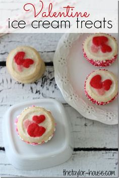 Easy Valentine Ice Cream Treats are a great classroom party snack or Valentine Dessert