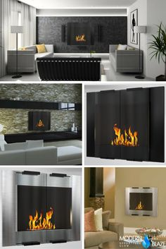 Combining style and modernism, our magnificent bio-ethanol fireplaces are an affordable alternative that will ally atmosphere, design, and ecology. Get a decorative bio-ethanol fireplace with environmental warmth, perfect for restrained or large spaces such as apartments and condos, townhouse or at the office.  These contemporary bio-ethanol models are made with stainless steel and will add amazing relaxation and warmth to your room.