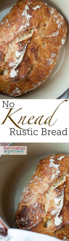 No Knead Bread - Farmgirl Gourmet