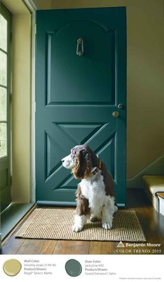 Create contrast and a bold look with Timothy Straw and Jack Pine. Benjamin Moore's Regal Select Waterborne Interior Paint. [ad]