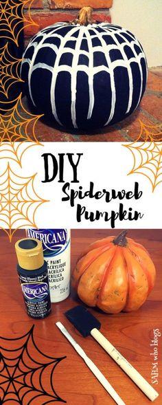 DIY Spiderweb Pumpkin
