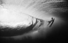 underwater wave in black and white. Gorgeous.