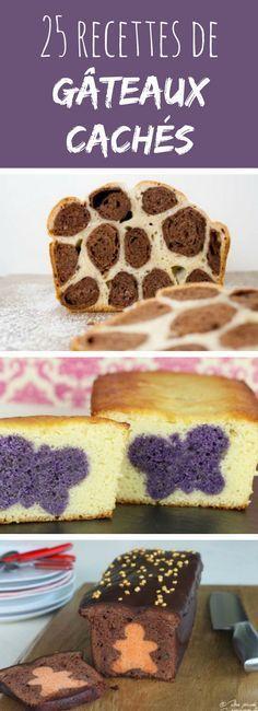 25 recettes de gâteaux cachés : ils dévoilent un joli motif une fois coupés !