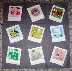 polaroid quilt blocks: fussy cut