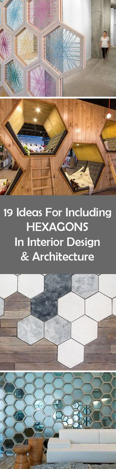 19 Ideas For Using Hexagons In Interior Design And Architecture //