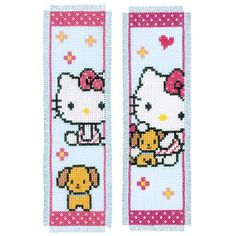 Hello Kitty® Bookmarks Counted Cross Stitch Kit - Cross Stitch, Needlepoint, Embroidery Kits – Tools and Supplies