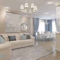 Дизайн-проект трехэтажного загородного дома с площадью 300 кв. м на юге Московской области для семьи с тремя детьми.